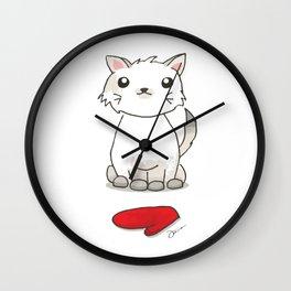 One Kitten, One Mitten Wall Clock