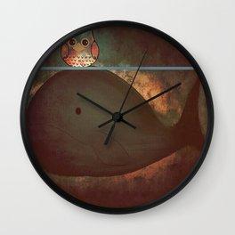 owl&whale-197 Wall Clock