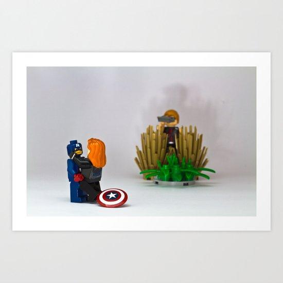 Hawkeye the creeper Art Print