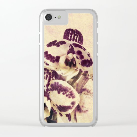 Orchids 2 Clear iPhone Case