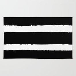 Black & White Paint Stripes by Friztin Rug