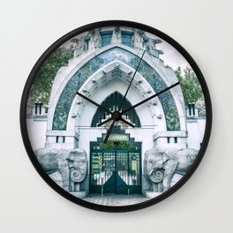 Budapest ZOO art nouveau entrance Hungary Wall Clock