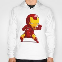 ironman Hoodies featuring IRONMAN by MauroPeroni