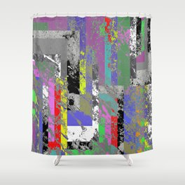 Textured Exclusion I Shower Curtain