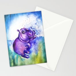Fiona the Hippo - Splashing around Stationery Cards