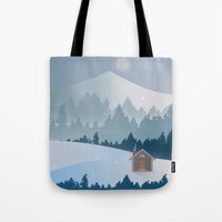 cabin pressure Tote Bags featuring Cabin by Eric-Bird