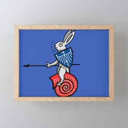 Snail Rider Bunny 2019 Framed Mini Art Print