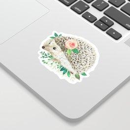 hedgehog with rose Sticker
