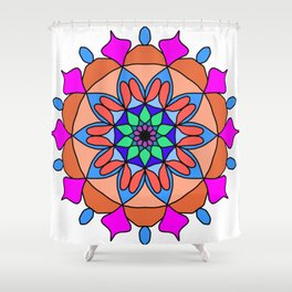Hand drawing zentangle color Shower Curtain