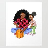 Pumpkin Carving Art Print