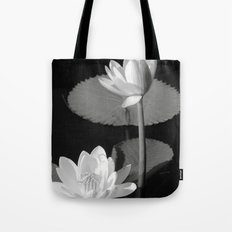 Black & White Lilypad Tote Bag