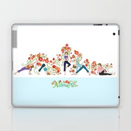 Yoga Girls_Growing With Poses_Robin Pickens Laptop & iPad Skin