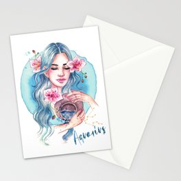 Aquarius Zodiac Stationery Cards