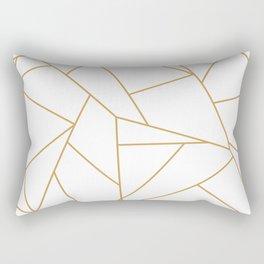 Geometric Gold Hexagon Pattern Rectangular Pillow