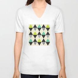 Geometric Pattern #48 (Mid-century) Unisex V-Neck