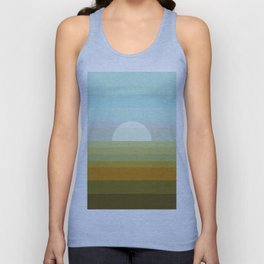 Sunset in the countryside Unisex Tank Top