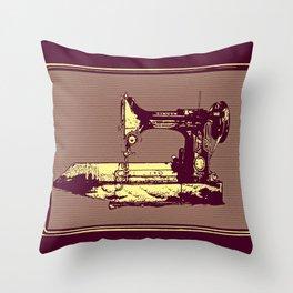 Vintage Singer Sewing Machine Throw Pillow