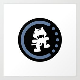 MonsterCat logo  Art Print