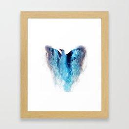 Blue bird in flight Framed Art Print
