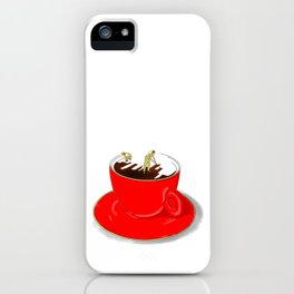 Paint My Coffee iPhone Case