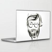 john snow Laptop & iPad Skins featuring JOHN by Michela Buttignol