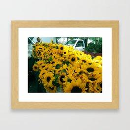 Farmer's Market Flowers Framed Art Print