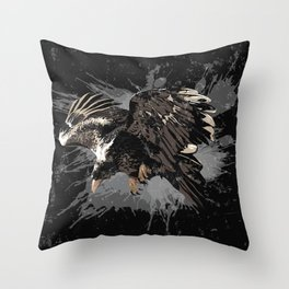 Stylized Eagle Throw Pillow