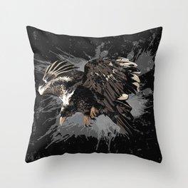 Stylized Eagle Throw Pillow