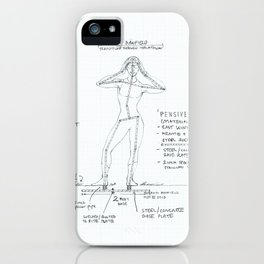 Pensive Drawing, Transitions through Triathlon iPhone Case