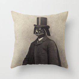 Lord Vadersworth  - square format Throw Pillow