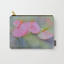 Pink Anthurium Carry-All Pouch