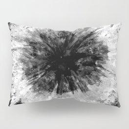 Black and White Tie Dye // Painted // Multi Media Pillow Sham