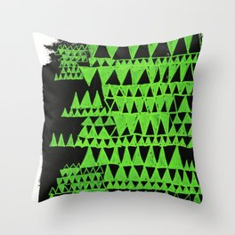 green triangles Throw Pillow