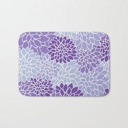 Ultra Violet Lavender Dahlias Bath Mat