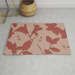 Delicate Floral, Stone Crop Garden, Earth and Rose Rug