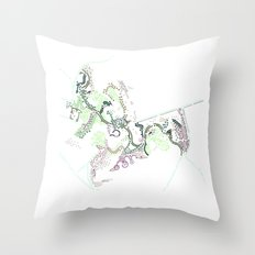 City of Plants Throw Pillow