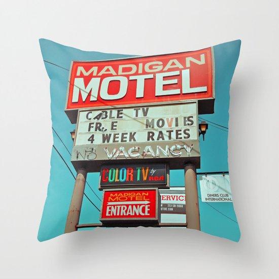 Madigan Motel Throw Pillow