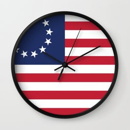 Betsy Ross flag of the USA Wall Clock