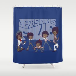 Jetsons Five Shower Curtain