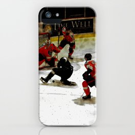 The End Zone - Ice Hockey Game iPhone Case