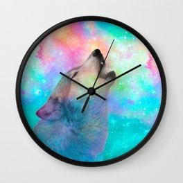 Breathing Dreams Like Air (Wolf Howl Abstract) Wall Clock