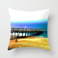 postcard Throw Pillows featuring Postcard by Shemaine