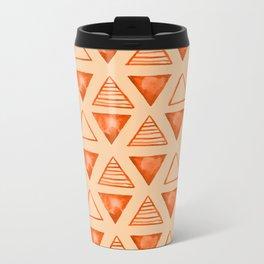triangle pattern Metal Travel Mug