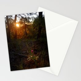 """Flower Into The Woods"" Happy Peony looking for the last sun.. Stationery Cards"