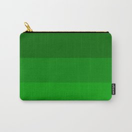 Irish Kelly Green Ombre Stripes Carry-All Pouch
