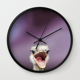 The Ostrich's Calling Wall Clock