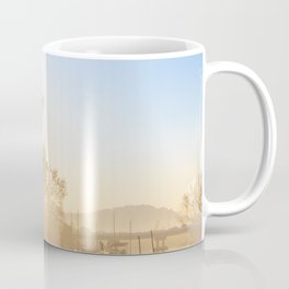 Misty morning on a river estuary, Trang province, Thailand Coffee Mug