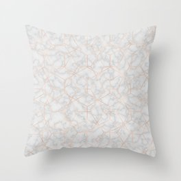 Marble With Party Throw Pillow