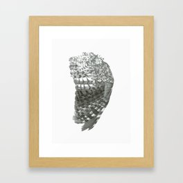 Owl Wing Framed Art Print