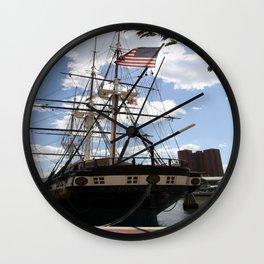 Old Glory - USS Constellation Wall Clock